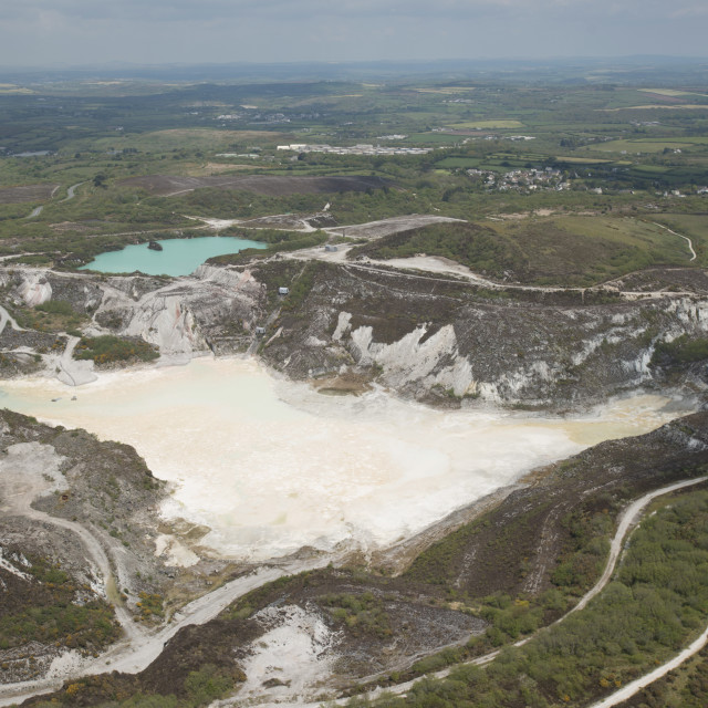 """""""Clay PIt.St Austel. Cornwall."""" stock image"""