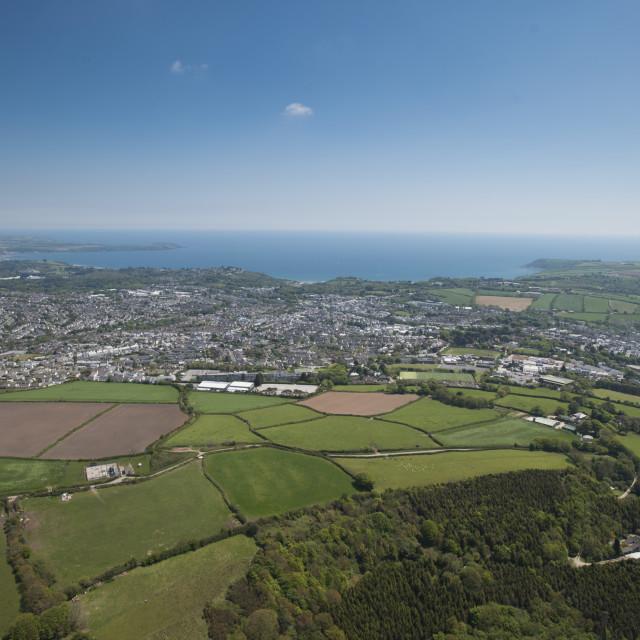 """St Austel. Cornwall.UK"" stock image"