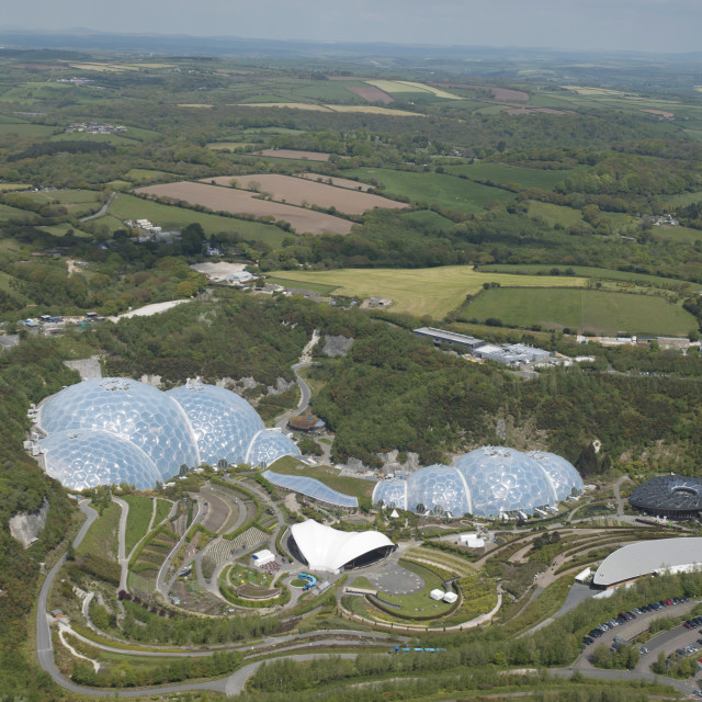 """Eden Project. St Austel. Cornwall. UK"" stock image"