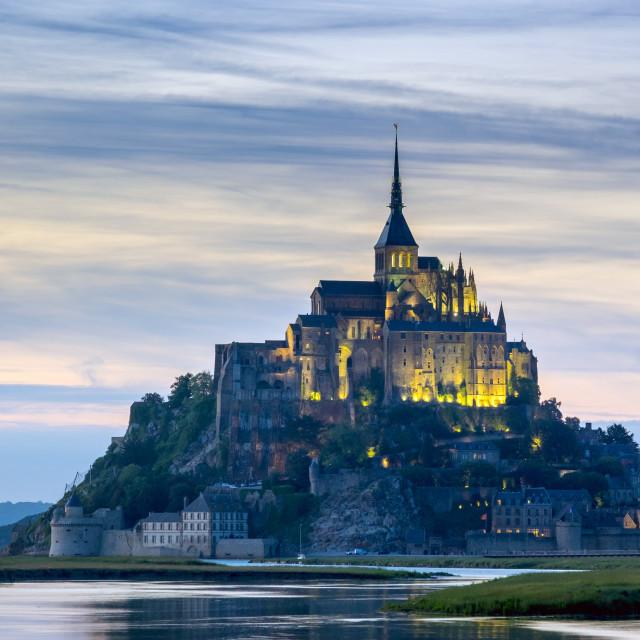 """""""France, Normandy (Normandie), Manche department, Le Mont-Saint-Miichel at..."""" stock image"""