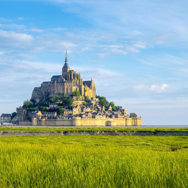 """""""France, Normandy (Normandie), Manche department, Le Mont-Saint-Miichel."""" stock image"""