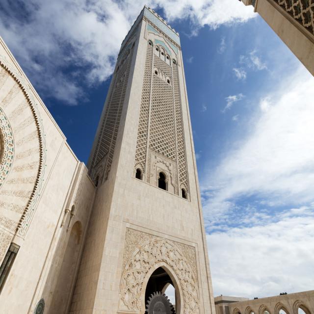 """""""Hassan II Mosque (Grande Mosquée Hassan II), Casablanca, Morocco"""" stock image"""