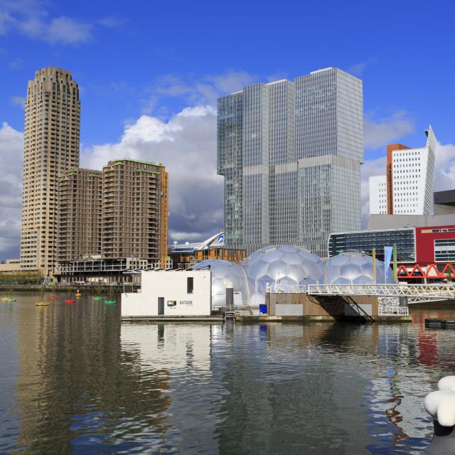 """Skyscrapers, Wilhelminaplein District,Rotterdam, South Holland, Netherlands,..."" stock image"