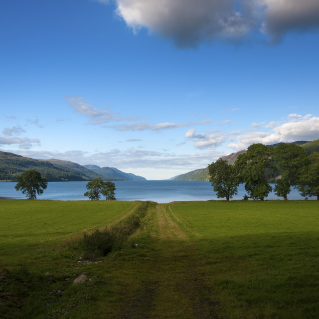 """Beatiful and serene landscape of the Loch Ness in Scotland, United Kingdom"" stock image"