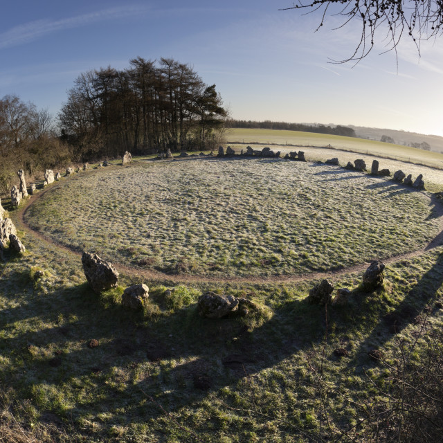 """The King's Men stone circle, The Rollright Stones, Chipping Norton,..."" stock image"