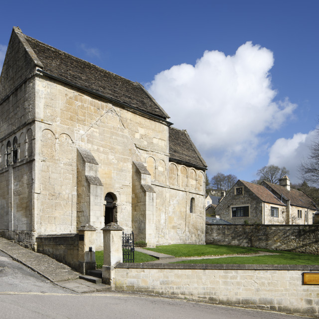 """The Saxon Church of St Laurence, Bradford-on-Avon, Wiltshire, England, United..."" stock image"