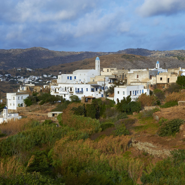 """Tarapados village, Tinos, Cyclades, Greek Islands, Greece, Europe"" stock image"