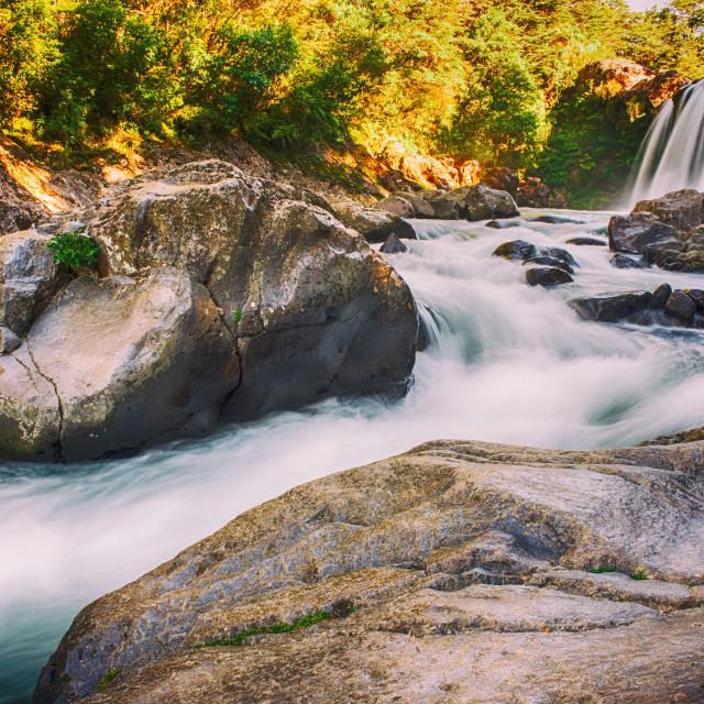 """Tawhai Falls"" stock image"