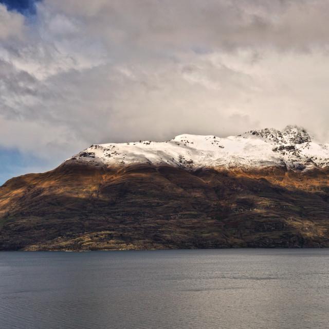 """Cecil Peak New Zealand"" stock image"