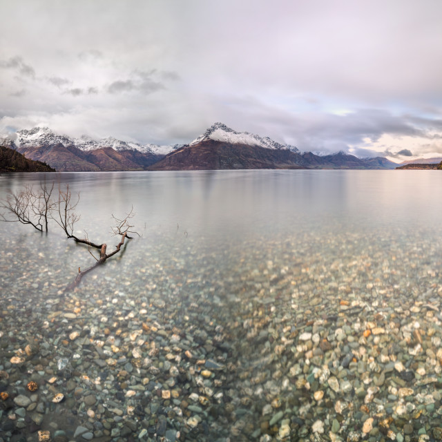 """Wilson Bay Lake Wakatipu Queenstown"" stock image"