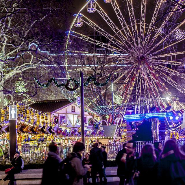 """Festive London Fairground"" stock image"