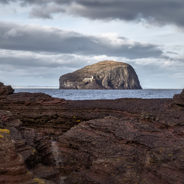 """Bass Rock in Scotland"" stock image"