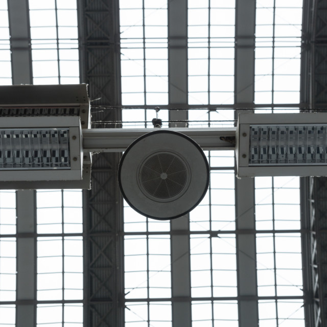 """""""Ceiling of a railway station"""" stock image"""