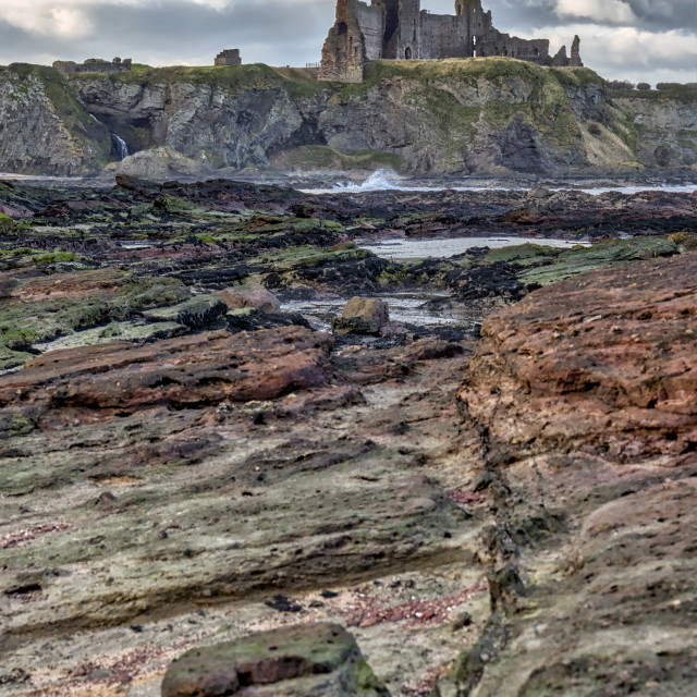 """Tantallon Castle in Scotland"" stock image"