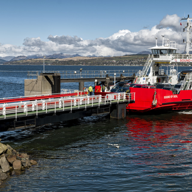 """Ferry Boats in Scotland"" stock image"