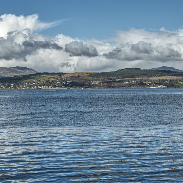 """The River Clyde at Greenock"" stock image"