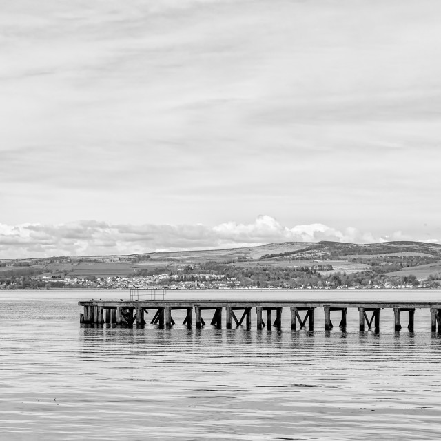 """The River Clyde at Port Glasgow"" stock image"