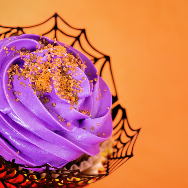"""Festive Halloween cupcake"" stock image"