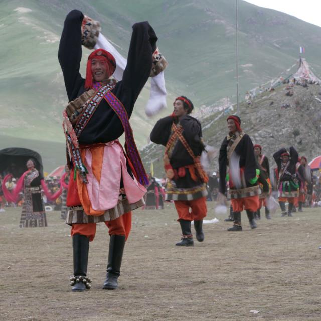 """Dancer, Jekundo horse festival"" stock image"