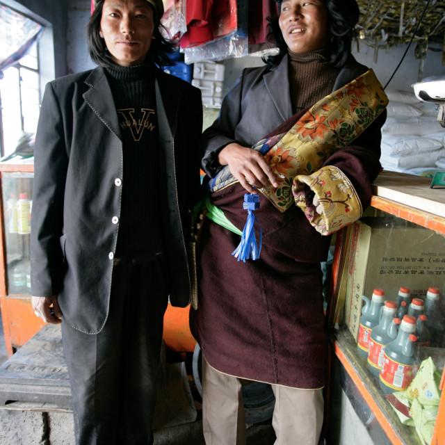 """Two Khampa Men"" stock image"