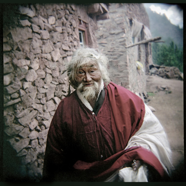 """""""Pema Dorje, Zhamgoling Monastery, Tibet"""" stock image"""