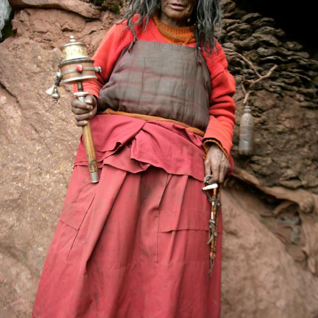 """Mngyur Yogini, Dechenling nunnery, Nangchen, Tibet"" stock image"