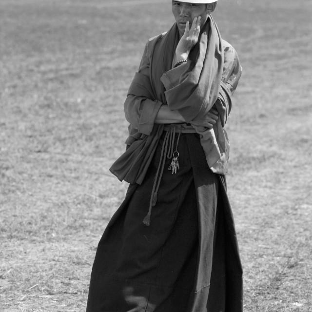 """""""Khampa man. Nangchen, Tibet"""" stock image"""