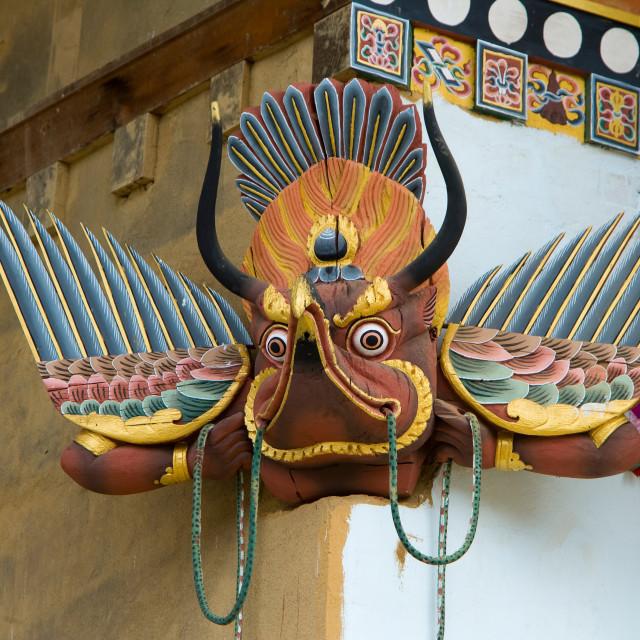 """Garuda, Gantay Monastery, Bhutan Bhutan"" stock image"