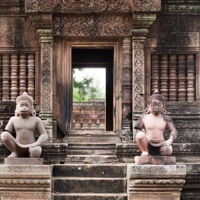 """Banteay Srei gate"" stock image"