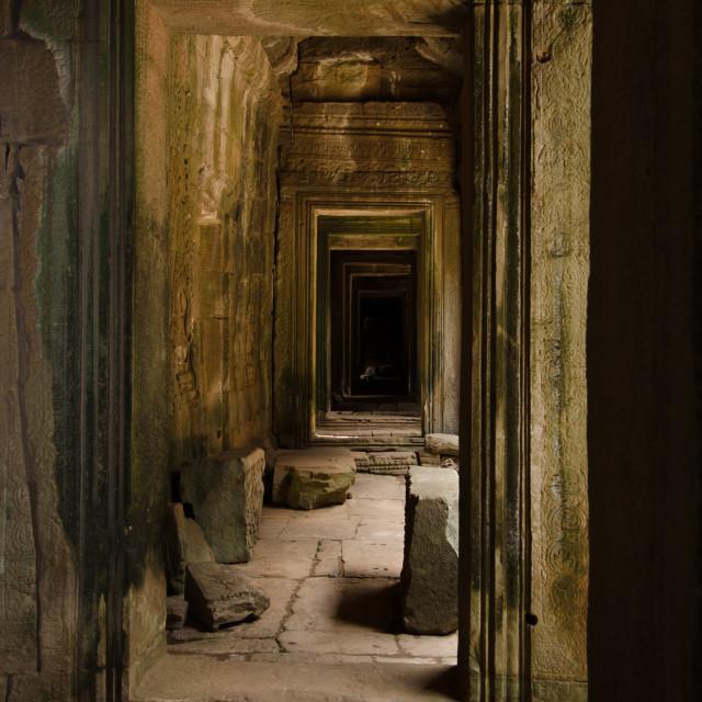 """""""Angkor Corridors"""" stock image"""