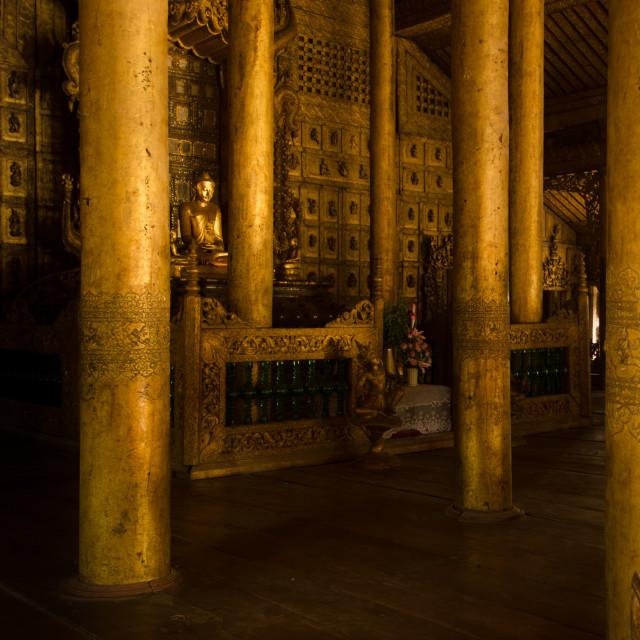 """""""Gilded Buddha"""" stock image"""