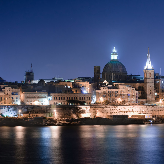 """Valletta skyline"" stock image"