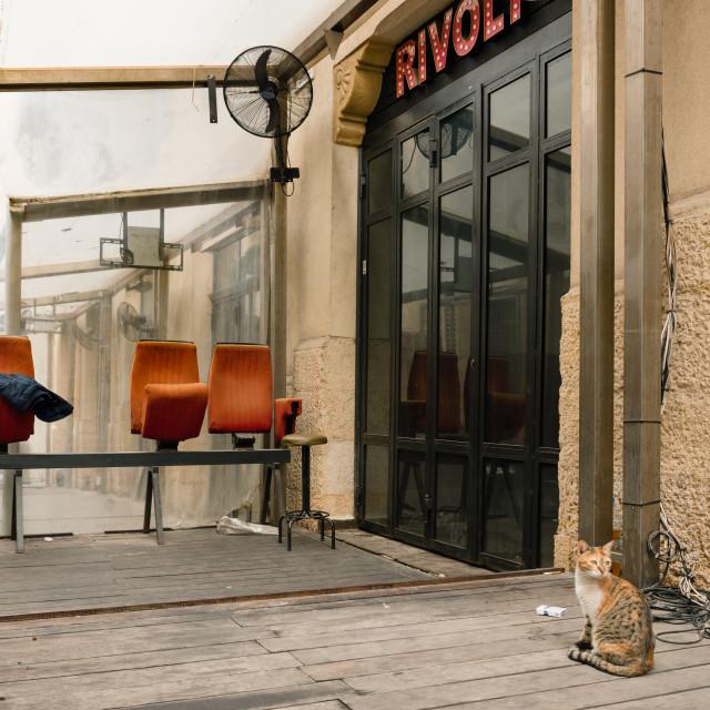 """Rivoli cinecafe"" stock image"