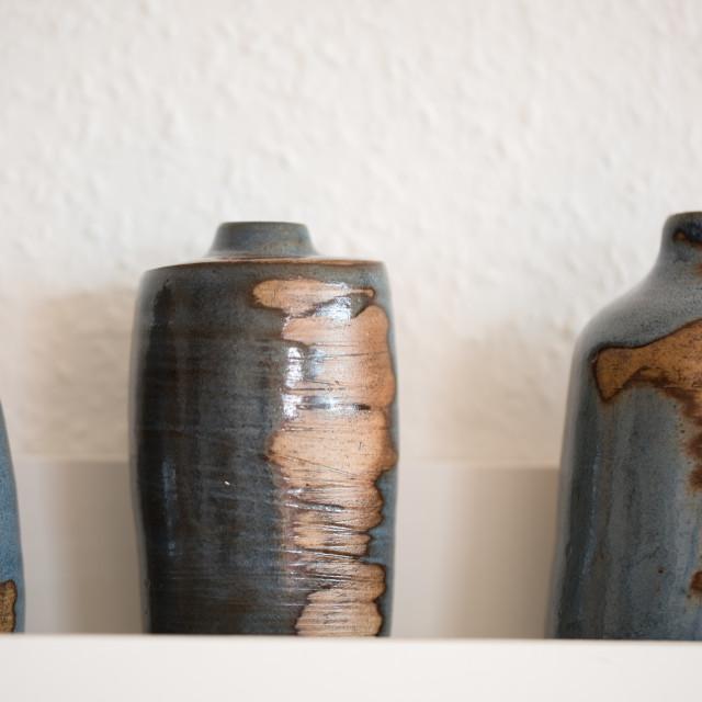 """""""Earthenware bottles"""" stock image"""