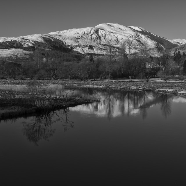 """Callander in The Trossachs - BW"" stock image"