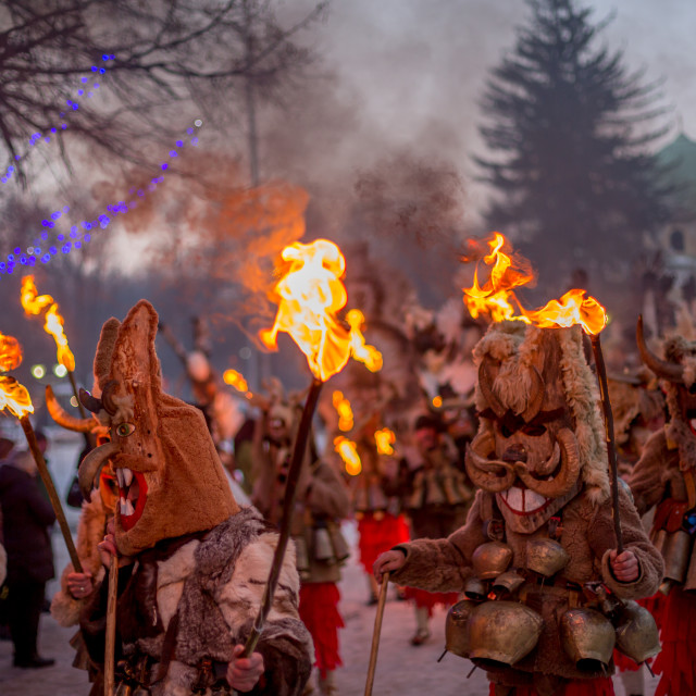 """""""Marching with ritual fire"""" stock image"""