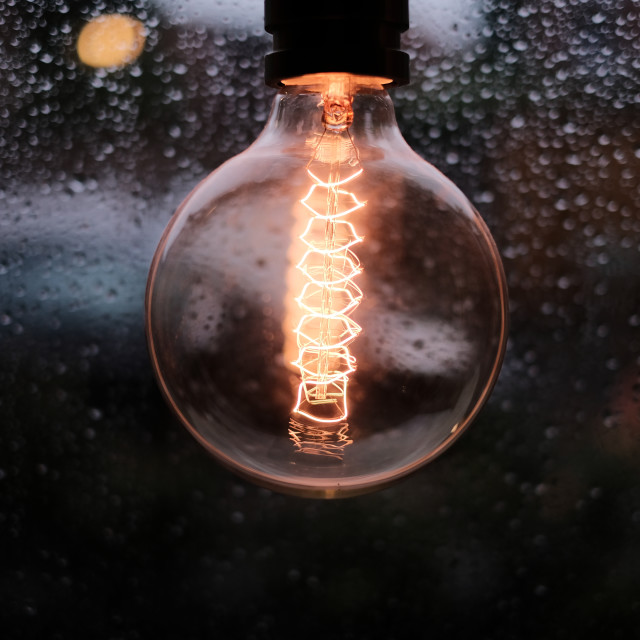 """Vintage light bulb"" stock image"