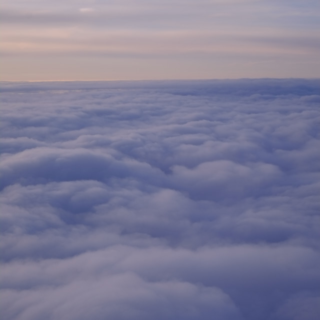 """Clouds from the air"" stock image"