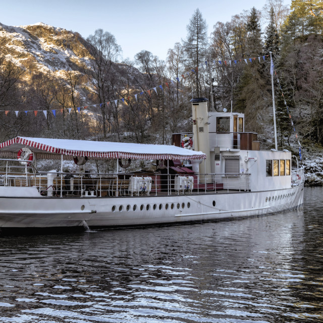 """Steam Boat on Loch Katrine"" stock image"
