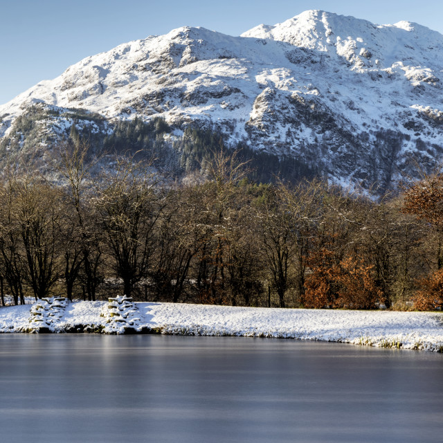 """Winter scenery in Scotland"" stock image"