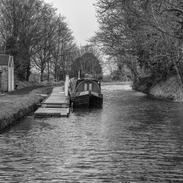 """The Linlithgow Canal"" stock image"