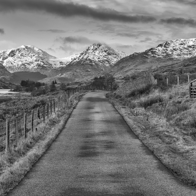 """On the road to Inversnaid"" stock image"