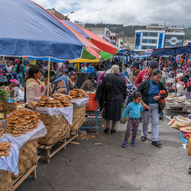 """Otavalo Crafts Market"" stock image"