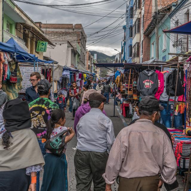 """Otavalo Crafts Market"" stock image"