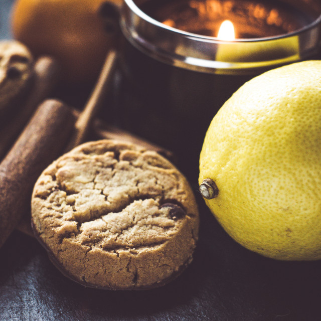 """Cookies, Cinnamon And Lemon"" stock image"
