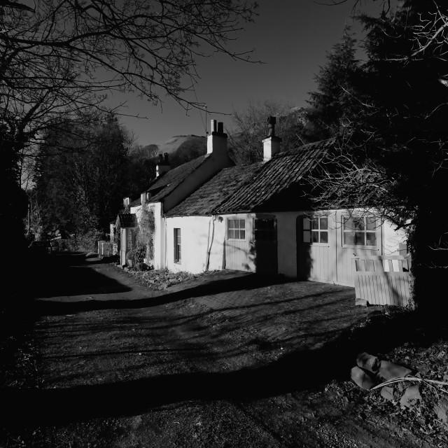 """Cottage in Stirlingshire"" stock image"