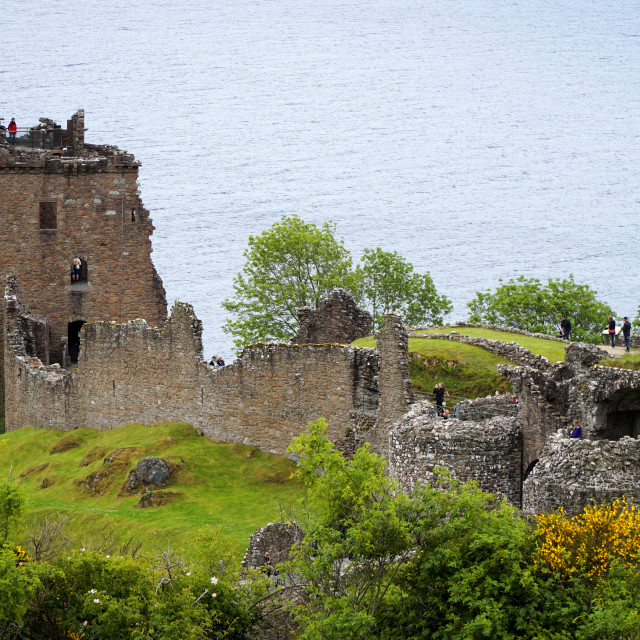 """Urquhart Castle on Loch Ness"" stock image"