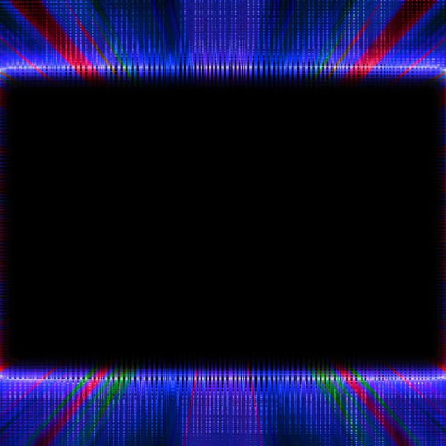 """Blue and red sunburst frame"" stock image"