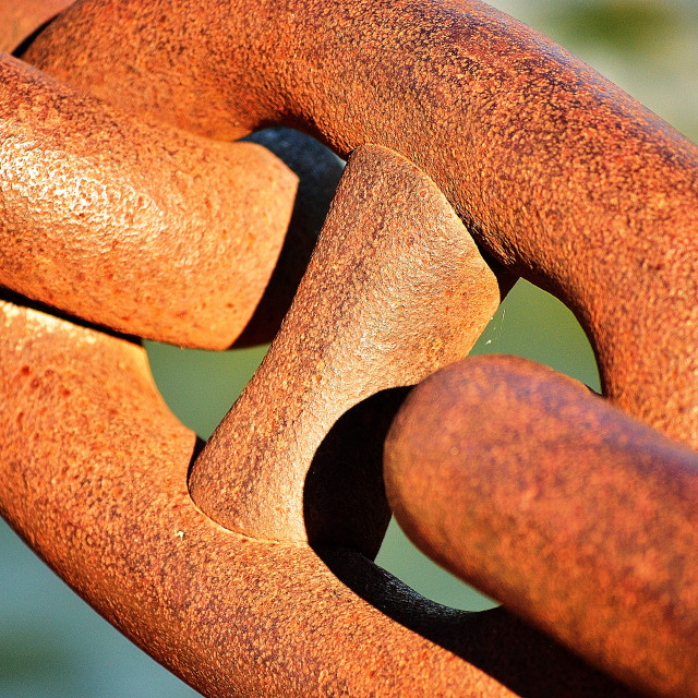 """Rusty link"" stock image"
