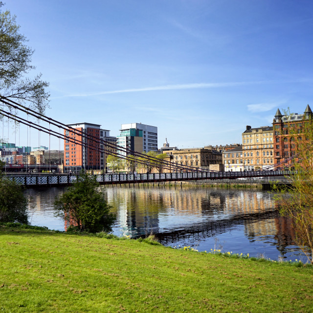 """""""River Clyde in Glasgow"""" stock image"""
